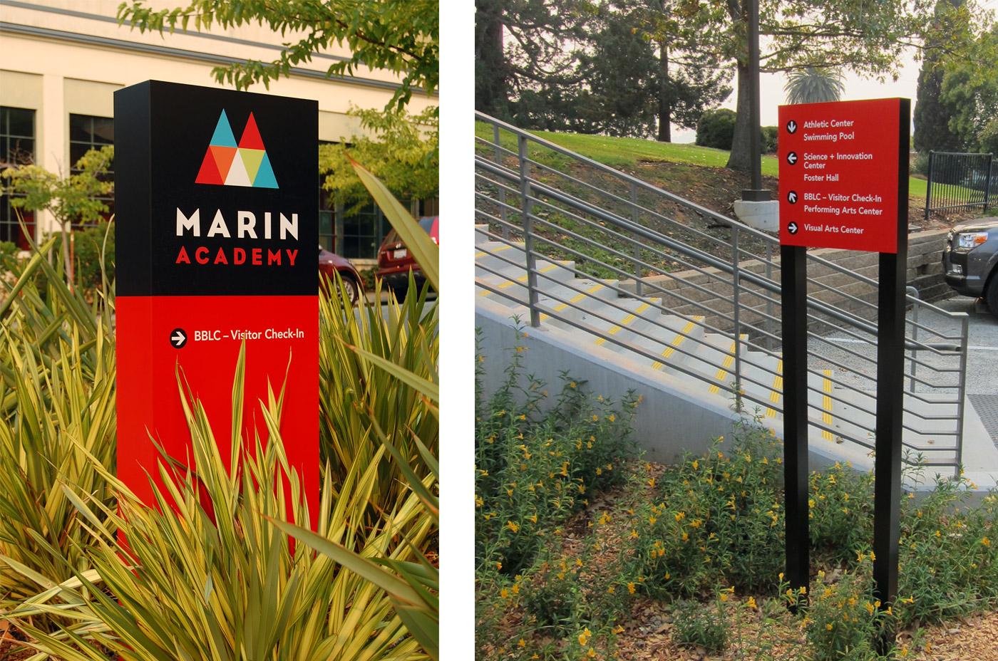 Marin Academy Wayfinding Signs