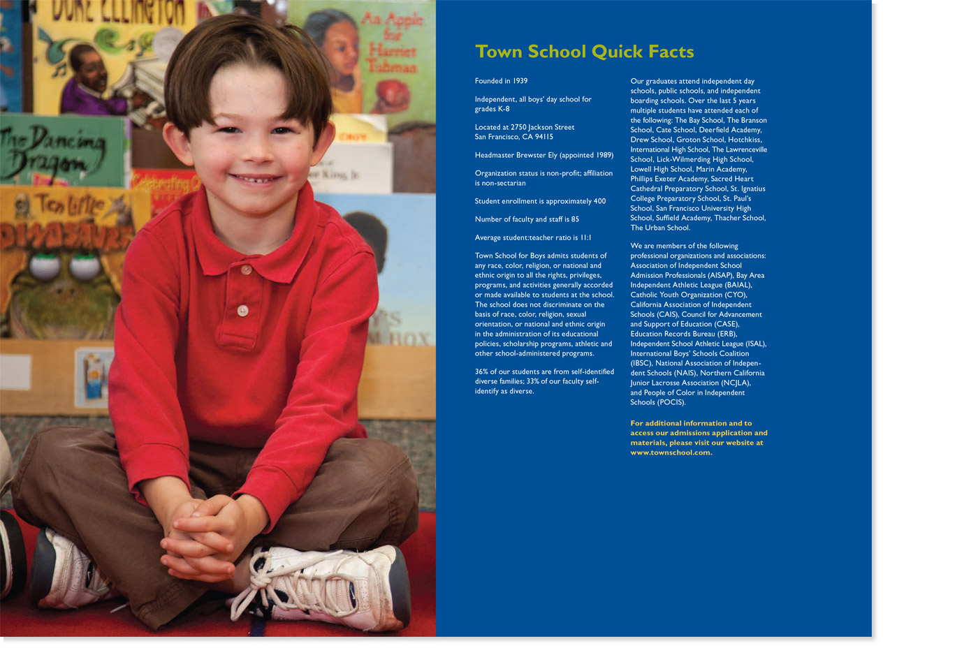 Town School for Boys Admissions Viewbook